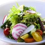 季節の有機野菜のサラダ