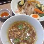 45501043 - 野菜スープカレーつけ麺+チャーシュー