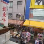 台湾料理 新東洋 - お店からアメ横を望む