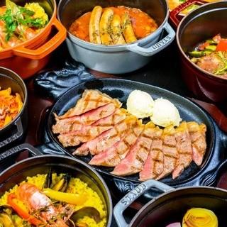 【コース】ウリのお肉と鎌倉野菜食べ放題のコース