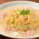 上海湯包小館 - 蟹あんかけ炒飯