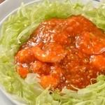 上海湯包小館 - 海老のチリソース煮
