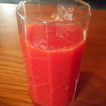 わがまま農園Cafe - セットのトマトジュース(シシリアンルージュ)