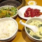 カルビ屋大福 - 厚切りハラミランチ 1080円