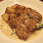 GAB 恵比寿 - 鹿児島産 さつま地鶏もも肉のロースト ディアボロ風 クリームソース/1680円