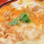 45519166 - 鳥藤分店(都内中央区築地場外)親子丼(単品鶏スープ付)
