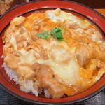45519167 - 鳥藤分店(都内中央区築地場外)親子丼(単品鶏スープ付)800円