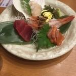 魚や一丁 - お刺身4点盛り