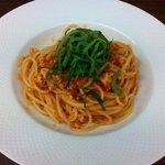 ヴィア トスカネッラ - スパゲッティ 小ヤリイカのラグー トマトソース 大葉風味(2015.11)