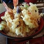和風レストラン やまさ - 天丼(1296円) 天丼アップ