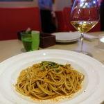 発酵イタリアン 23 ドゥエ トレ - 長崎県産サザエのスパゲティーニ肝のソース サルディーニャ島のカラスミあえ 1600円