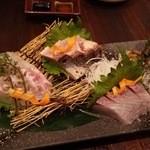 魚と日本のお酒 むく - 1512_むく_九州玄海灘直送鮮魚のお刺身5種盛り.JPG