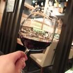 コラーゲンしゃぶしゃぶとワイン GINZA春夏秋豚 - 続いて赤ワインを…