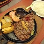 ごちそうお肉ビストロ くう海 - リブロースステーキコース(税抜2,480円)