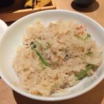 45529484 - じゃこと舞茸の土鍋飯
