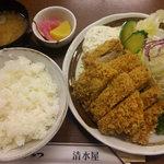 清水屋 - チキンかつ定食 (¥900-)