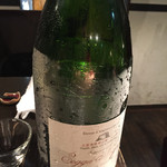 麹町市場 - シャンパン的な日本酒。他にもレア地酒多数で楽しめました!