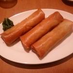 中華菜飯 - ビールセットの「春巻き」です。