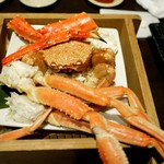 北の味紀行と地酒 北海道 - 豪快に蟹3種くらべ