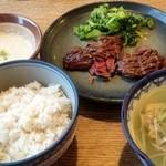 shodaigyuutanakabee - 牛サガリ定食1,190円+とろろ200円