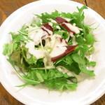 ステラ - セットのシーザーサラダ 水菜とグリーンリーフレタス