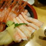魚旨 - 甘えびかに丼②
