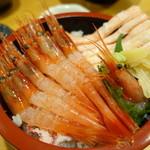 魚旨 - 甘えびかに丼①