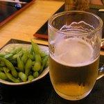 4555430 - 枝豆と生ビール