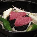 ご飯屋 おむすび - 黒毛和牛の鉄板
