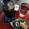ねずねこ - 料理写真:アイスコーヒーとミニロールと手作り猫クッキー
