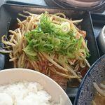 麺家一火 - 夜のホルモン炒めセット