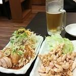溢香縁  - ビールセット(棒棒鶏と小袋)
