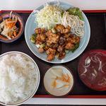 お食事処大吉 - 鶏丁定食(大盛)(2015年12月)