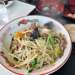 お食事処大吉 - 「レバー炒め定食」のメイン(2015年12月)