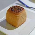 45557995 - パン、カッテージチーズをつけていただきます