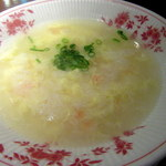 東京炒飯 プロデュースドゥ バイ 赤坂璃宮 - 海老と玉子の泡飯アップ
