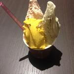 ViTO - 南瓜はここ最近のNo.1、ピスタチオはプレミアムなお味、ナッツはとても好みな素敵なトリプルジェラートでした。