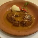 45560858 - スペイン風ハンバーグ                       お肉の密度がかなりあります。濃厚なソースが美味しい。