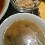 四川料理 川香苑 - 味噌汁&サラダ