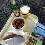 45568020 - お昼に青空の下で頂くビールはサイコ〜♪