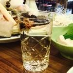 ふぐ料理 与太呂 - ひれ酒♡え~色出てますわ!!