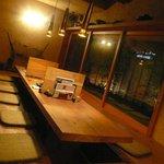 そば草香 - テーブル席