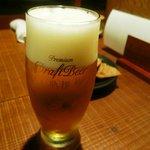 そば草香 - 生ビール(熟撰)