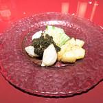 中国料理 XVIN - 大粒帆立と山芋の花山椒ソース