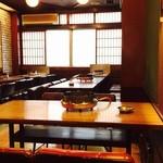 ふぐ料理 与太呂 - 店内、窓を開けると道頓堀川が見えますよ!