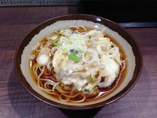 福寿草 - かき揚げ蕎麦390円