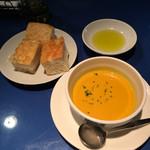KIRIN SOW-SOW - サラダランチのスープはパンプキン
