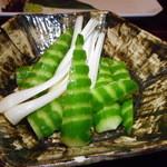 TUMUGI - もろ味噌胡瓜とエシャレット