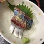 福魚食堂 - しかもこんなに新鮮なサバ刺しが付いてくる!!