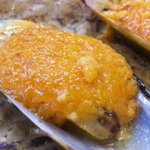 和風れすとらん ベアー - ムール貝のウニクリームソース焼き